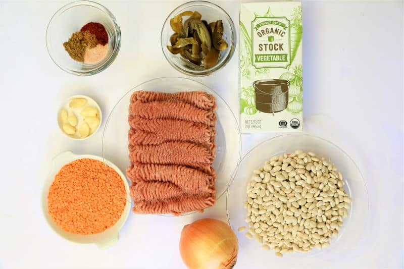 Ingredients for White Bean Turkey Chili