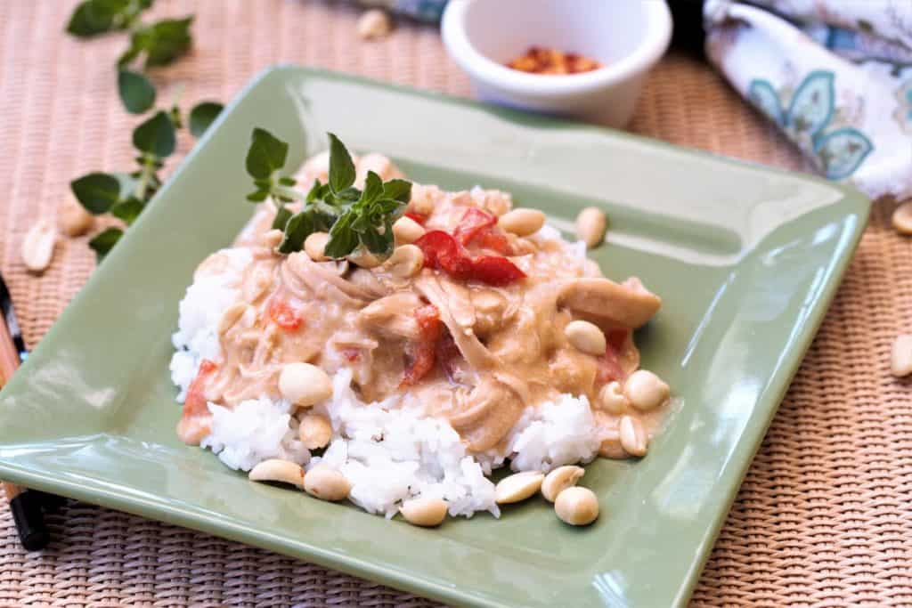 instant pot spicy peanut chicken