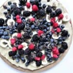 Fruits and chocolate on crust